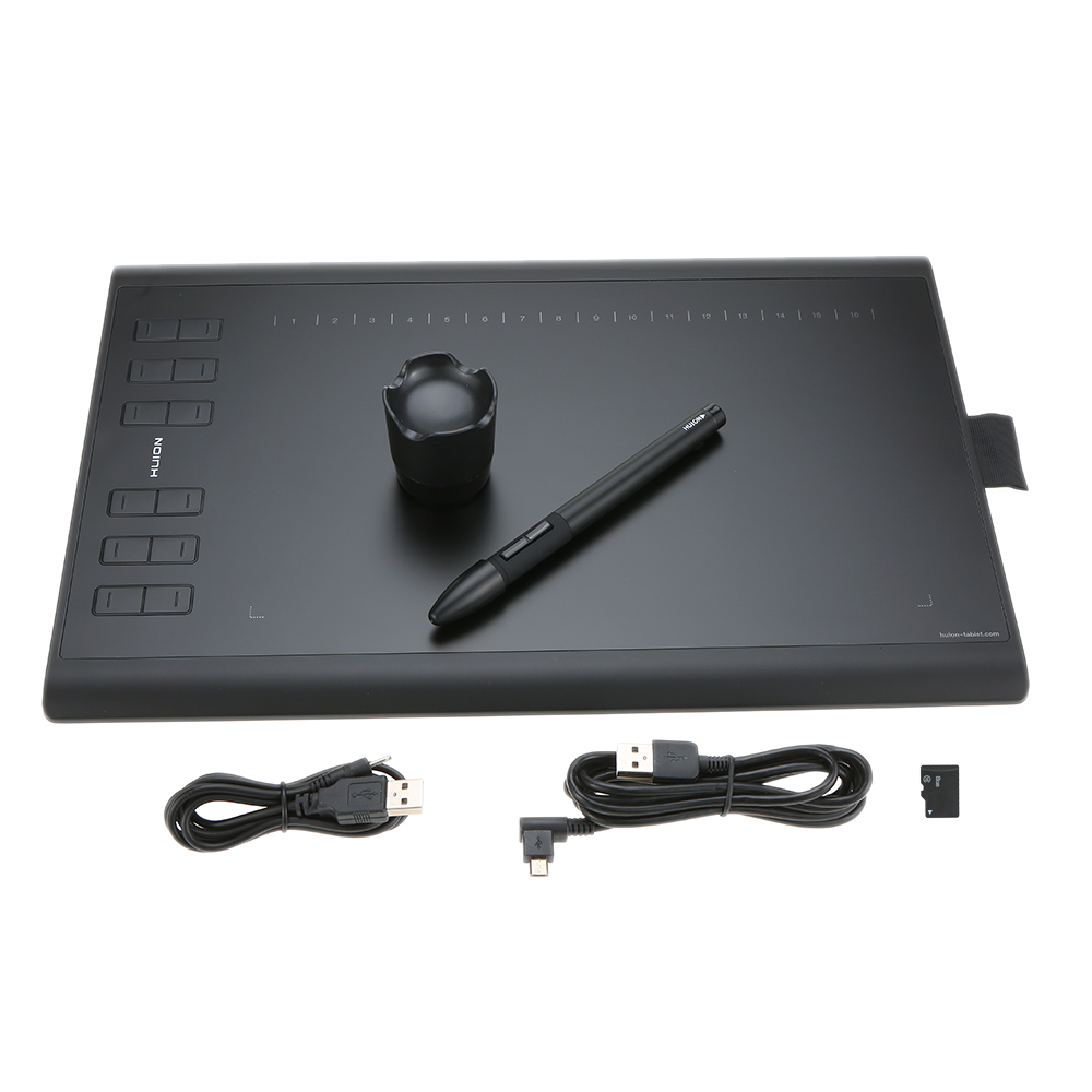 Huion New 1060PLUS Graphic Drawing Writing Tablet Micro USB with Built in 8G Memory Card 12