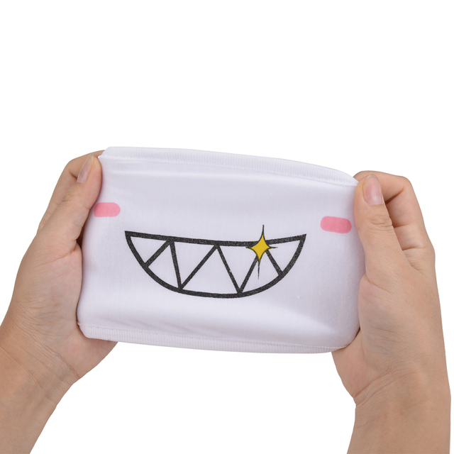 9PCS Cute Cartoon Face Mask Funny Teeth Pattern Anti-bacterial Dust Winter Unisex  Mouth Mask Emotiction Masque Kpop masks 3