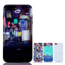 Для iPhone 7 HD изображения ультра-тонкий силиконовый чехол для iPhone 7 Plus 7 Plus назад случаях 4.7 «5.5» высшего качества с коробкой
