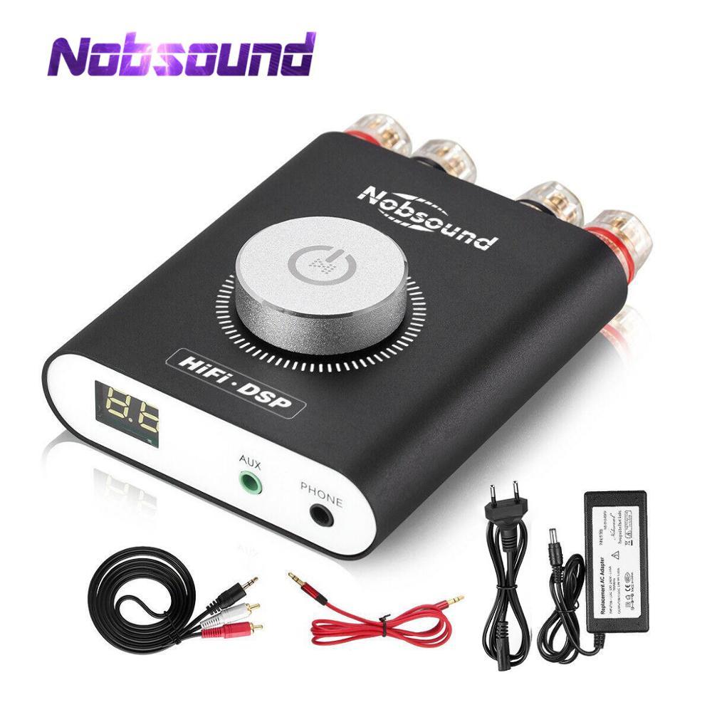 Nobsound Hi-Fi DSP TPA3116 Digital Power Amplifier Hifi Stereo Audio Headphone Amp Bluetooth 5.0 Audio Receiver