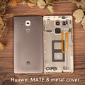 Original For Huawei Mate 8 Battery Cover Back Door Lid Housing Assembly + Fingerprint Sensor + Side Buttons + Camera Lens Flash