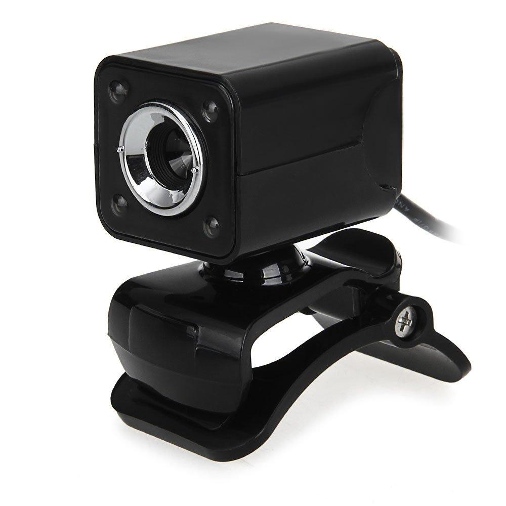 1080P 800W 4 LED HD Webcam Camera + USB 2.0 Microphone For Computer PC Laptop Black
