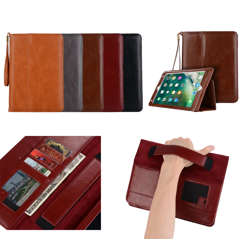 For Apple new ipad 2017 A1822 A1823 Genuine Leather for iPad Pro 9.7 Smart Cover Stand Luxury Cases For ipad 5 Air ipad 6 Air 2 for apple ipad air 2 pu leather case luxury silk pattern stand smart cover
