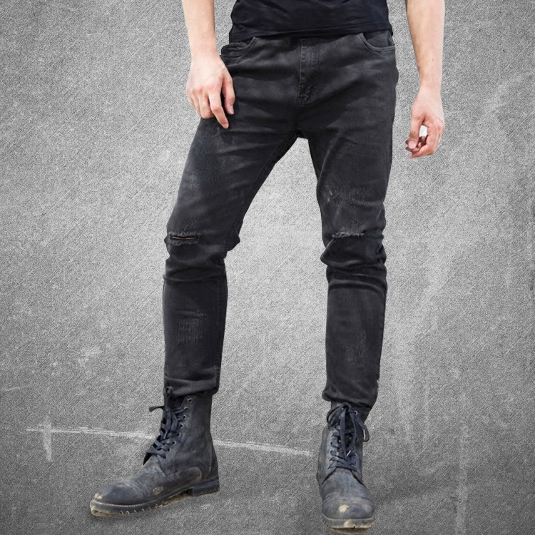 2016 New Fashion ripped skinny black men's jeans slim fit pants Men designer Casual Jeans Mens straight Denim Pants Famous Brand 2017 fashion patch jeans men slim straight denim jeans ripped trousers new famous brand biker jeans logo mens zipper jeans 604