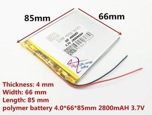 Image 3 - En iyi pil marka Ücretsiz kargo yeni Bir ürün 3.7 V lityum polimer pil 2800 mah 406685 ma tablet bataryası