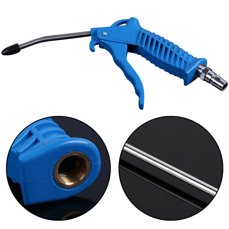 Personal Care Appliance Parts Home Appliances Red Plastic Handle Angled Bent Nozzle Air Duster Blow Gun Cleaner Air Blower Duster Blow Dust Gun Pneumatic Tool Long