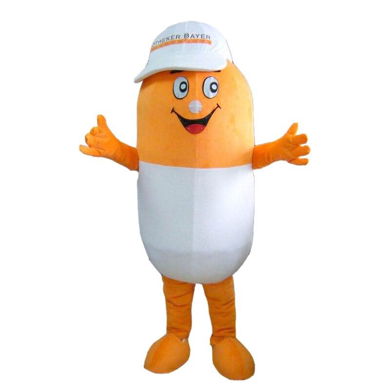 Costume de pilule drôle Cosplay tenues taille adulte costume de mascotte de bande dessinée pour la robe commerciale de Festival de carnaval