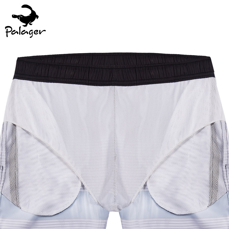 d42b3fbe6b Palager Brand Board Shorts Men 2017 Summer Vintage Phantom Striped Quick  Drying Beach Shorts Mesh Lining Big Size Swimwear Q1006-in Board Shorts  from Men's ...