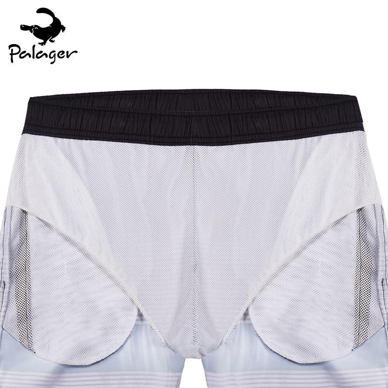 d42b3fbe6b Palager Brand Board Shorts Men 2017 Summer Vintage Phantom Striped Quick  Drying Beach Shorts Mesh Lining Big Size Swimwear Q1006-in Board Shorts  from Men's ...