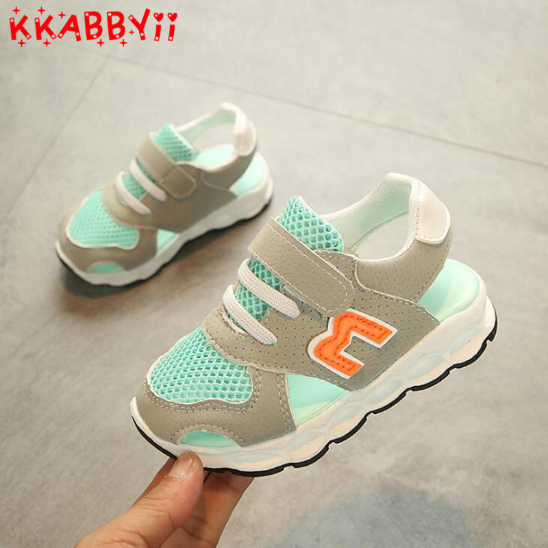 Fashion M Letter Kids Sandals New Summer Children Soft Shoes Baby Boys Sport casual Shoes Girls Sandals Chaussure Enfant ...