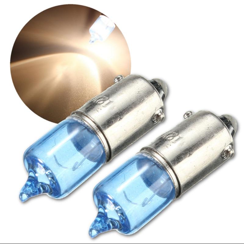 цена на 2pcs 12V 6W BAX9S H6W Super White 5000K Car Auto Xenon Sidelight Bulbs Turn Signal Lamp Bulbs Car Light Source
