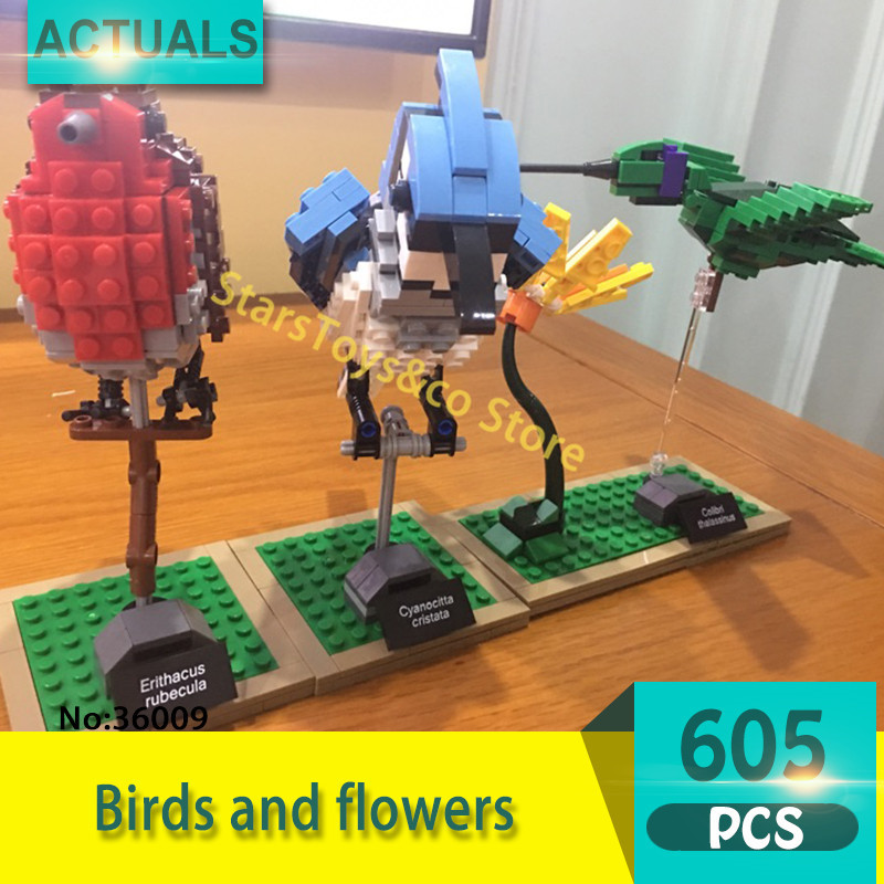 Lepin 36009 605Pcs Creative series Birds and flowers Model Building Blocks Set  Bricks Toys For Children Gift 21301 3d model relief for cnc in stl file format animals and birds 2