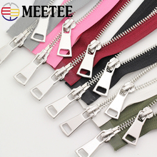hot deal buy 120cm 5# double slider metal zippers diy down jackets coats double open end long zipper clothing accessories 12 colors available