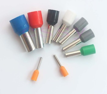 100 Uds. Conector de cable tubular E4009 terminales eléctricos cables crimpadores casquillos...