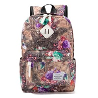 Miyahouse Vintage Graphic Printed School Backpack Lady Canvas Design Large Capacity Backpack Female Backpacks For College
