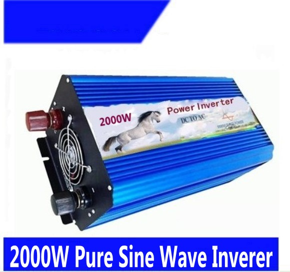 цена на 2KW 2000 Watt 2000W Pure Sine Wave Power Inverter Converter 24V DC to 220V 230V 240V AC Digital Display
