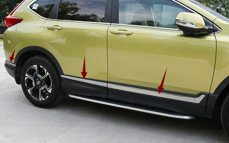 ACCESSORIES FIT FOR HONDA CRV CR-V 2017 2018 2019 stainless steel SIDE DOOR BODY MOLDING TRIM COVER LINE GARNISH PROTECTOR 6pcs