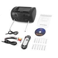 New 7 Headrest Car DVD Player 800*480 Black Monitors with Bluetooth Earphone Internal Speakers Video Games FM Transmitter