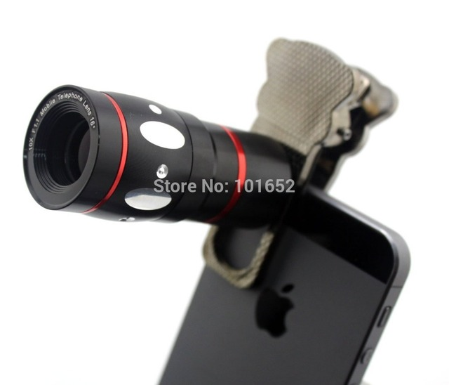 Universal 4 em 1 Telescópio Zoom Óptico de 10X Lupa olho de Peixe Macro wide angle lens set para iphone 4 5 samsung s4 s5 cl-3-lx