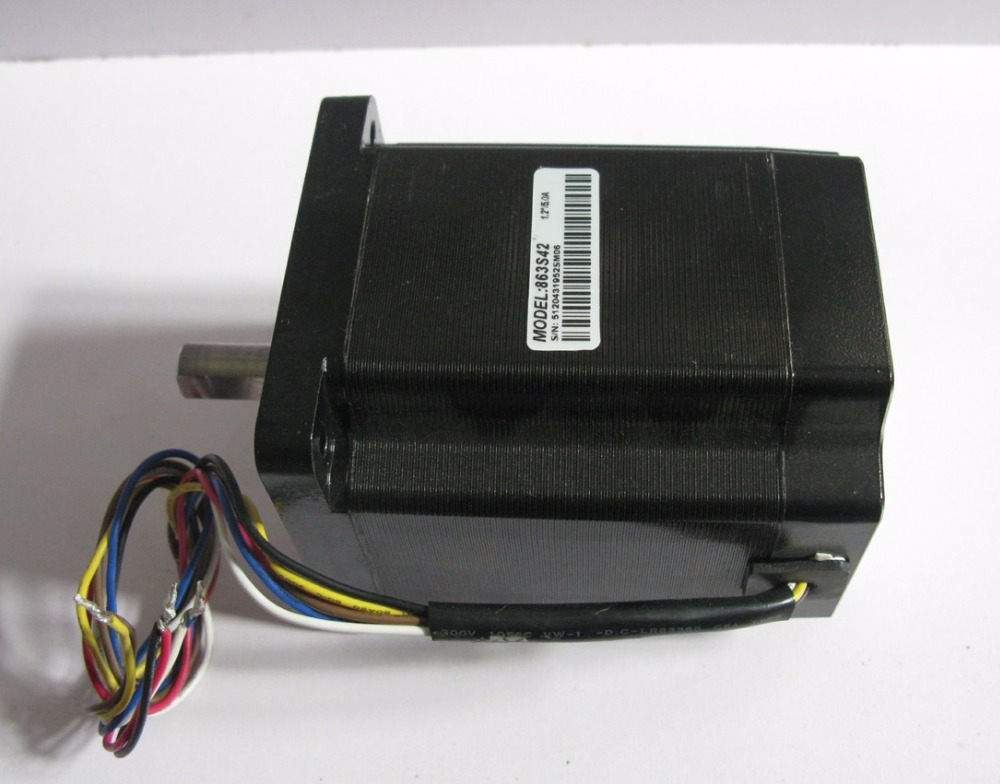цена на Leadshine 3-phase hybrid stepper motor NEMA 34 wire motor 6 leads 863S42 Current phase 5A Holding Torque 4.2N