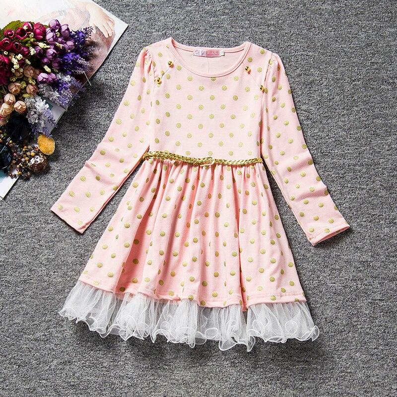 HTB11qUiKeuSBuNjy1Xcq6AYjFXaB 2019 Autumn Winter Girl Dress Long Sleeve Polka Dot Girls Dresses Bow Princess Teenage Casual Dress Daily Kids Dresses For Girls