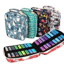 Creatieve 150 Solt Grote Capaciteit Gekleurde Etui Cartoon Dier Bloemenprint Multifunctionele Pencil Bag Pen Box Art Supplies