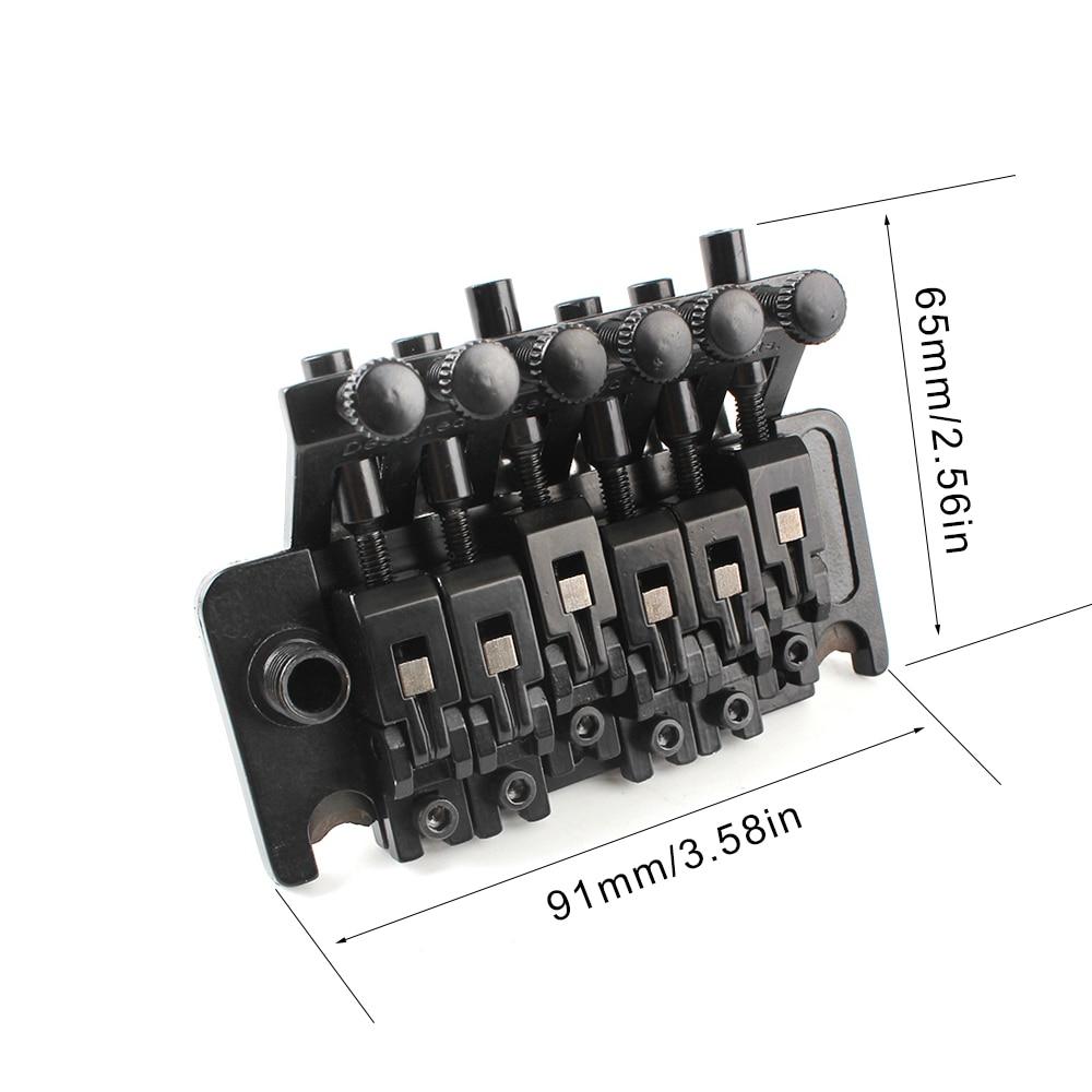 Floyd Rose Doppelverriegelung Tremolo System Brücke für E-Gitarre Teile schwarz