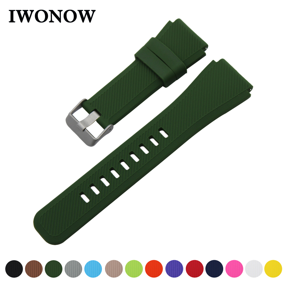 Silicone Rubber Watch Band 21mm 22mm for Orient Quick Release Strap Stainless Steel Buckle Wrist Belt Bracelet + Spring Bar silicone rubber watch band 21mm 22mm for timex weekender expedition quick release strap stainless steel buckle wrist bracelet