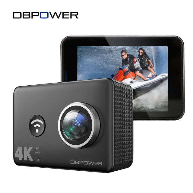 DBPOWER T2 Sports Action Camera 14MP Utral HD Wifi Cam Underwater Waterproof Camcorder Remote Control OTA update Fast Charge