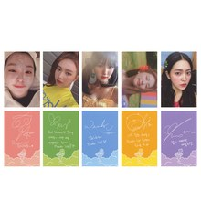5pcs/set New Fashion Red Velvet Summer Mini Album SUMMER MAGIC Photo Cards K-POP Self Made Paper Lomo Cards(China)