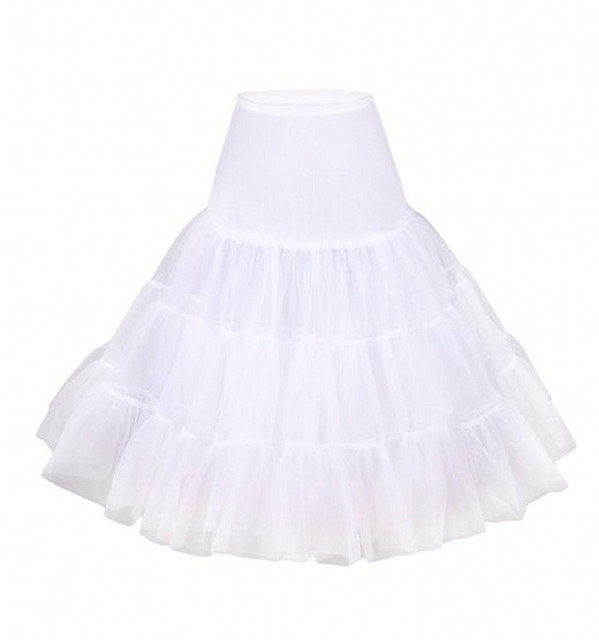 2015 New Arrival Cheapest Tulle Rockabilly Petticoat For Wedding Dress Underskirts Short Mini Crinoline Petticoat