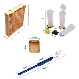 Image 3 - 完全な蜂女王飼育カップキットシステム養蜂キャッチャーボックスキャッチャーケージ蜂ツール養蜂ボックスセット生産細胞
