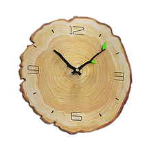 Wood Grain Wall Clock Living Room Bedroom Mute Wooden Charts Modern Minimalist Home Annual Ring European Clocks