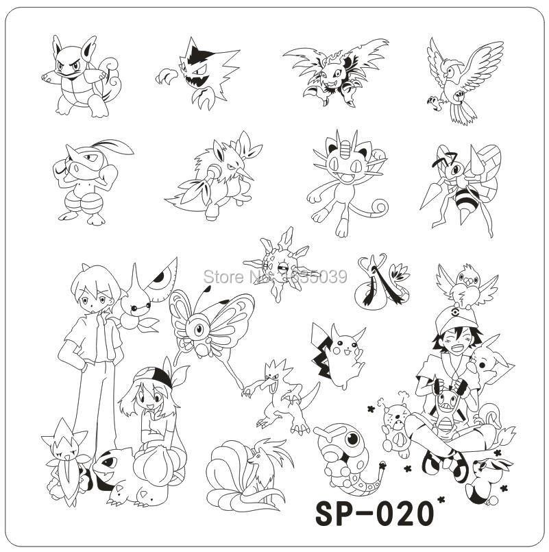 Pokemon Designs Template Nail Art Stamping Image Plates