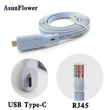 Best Cisco Console Cable FTDI  USB Type-C to RJ45 Windows 8/ 7 Vista MAC Linux RS232 6 Feet Length For Laptop USB Type-C USB 2.0 цена и фото