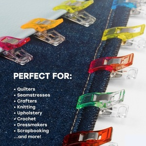 Image 2 - 50pcs/lot Tape Bias Maker DIY Job Foot Case Supplies Plastic Clip Hemming Sewing Tools Sewing Accessories Fabric GYH