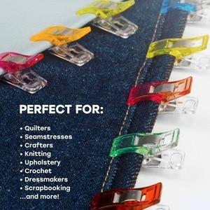 Image 2 - Bandas de plástico para costura, 50 pçs/lote fita encaixe diy trabalho caso de pé suprimentos clipe de plástico ferramentas de costura acessórios de costura tecido gyh