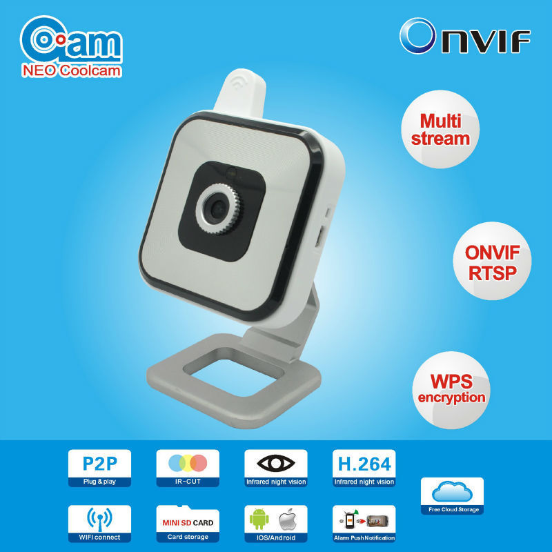 NEO Coolcam NIP-028L2J 720P Mini IP Camera Wireless with IRCut Filter Phone Remote Monitoring Push Notification Motion Detection куртка nip nip14qv03