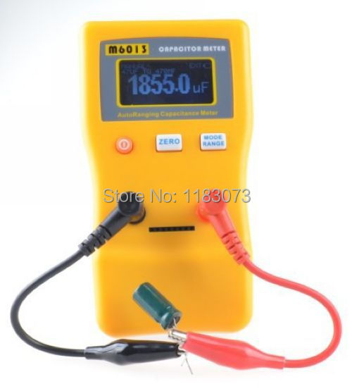 ФОТО  Auto Ranging Electronic Capacitance Meter Professional Capacitor Tester 001pF to 470mF Up 1% M6013 V2