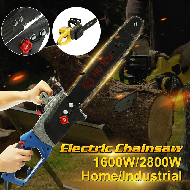 220V 2600w/4800w  Home/Industrial Electric Chain Saw Wood Saw Chainsaw 1200r/min Woodworking Chainsaw 1