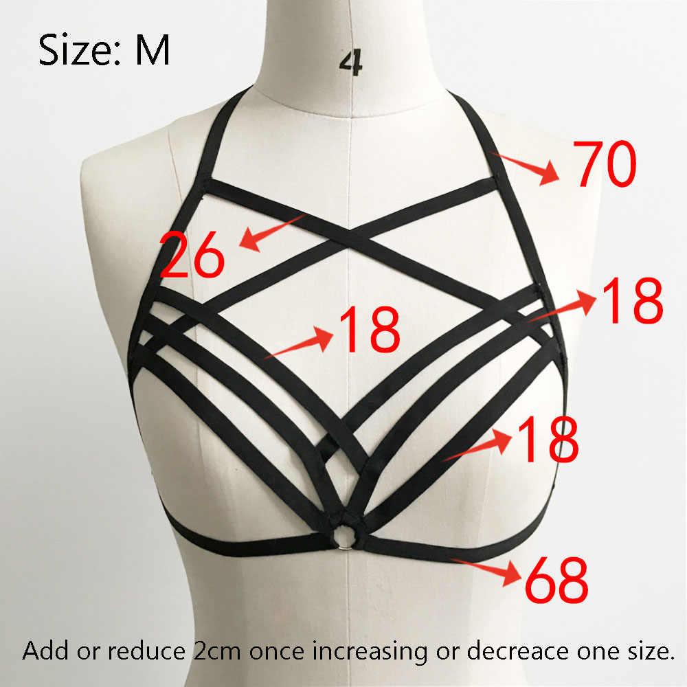 5fd7527fd2d ... Summer Sexy Women s Strappy Bandage Bra Cage Harness Hollow Bralette  Crop Top Bustier Vest Tops Female