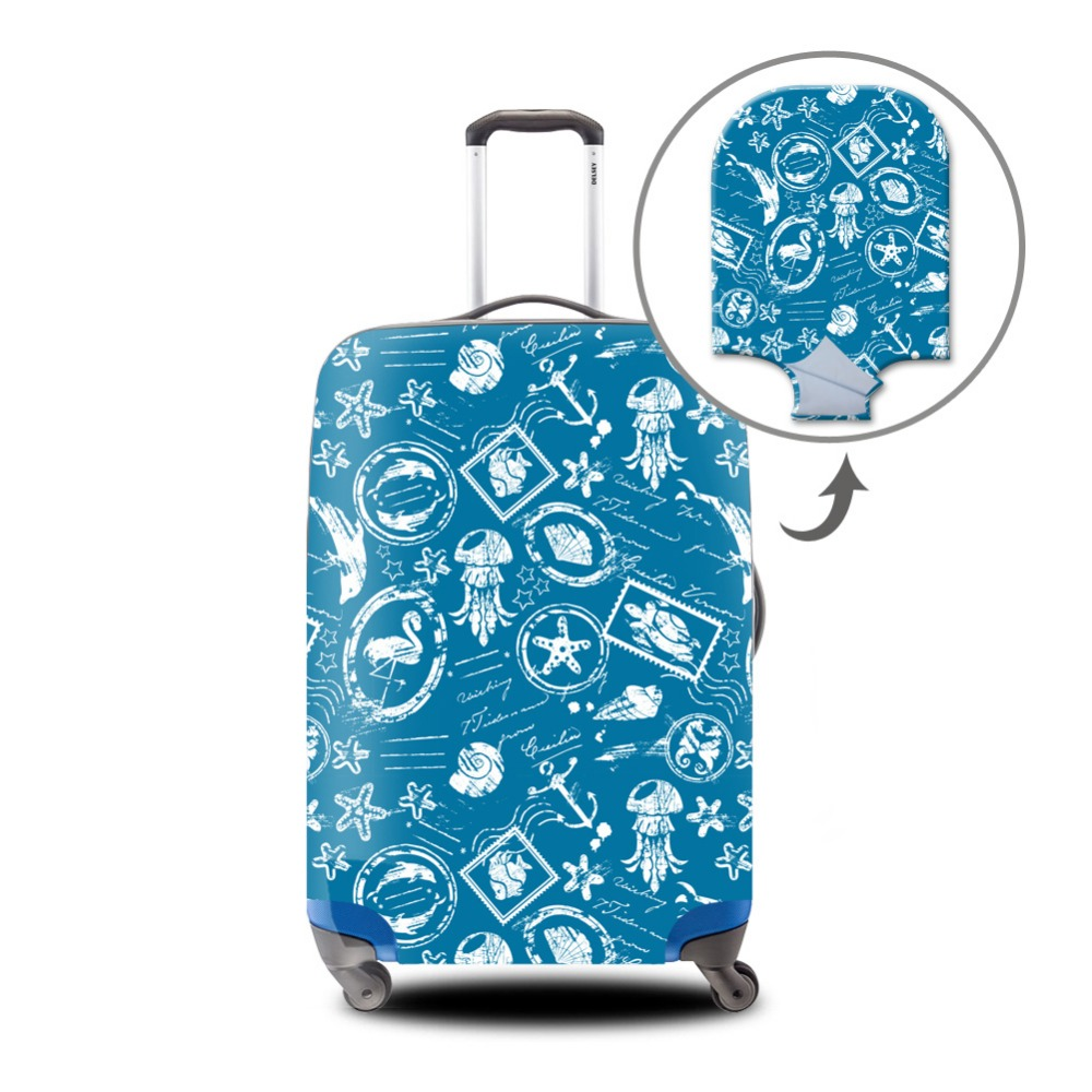 Dispalang Skull Luggage Cover for Duffle Cool Elastic Suitcase Protectors for Youth Travel