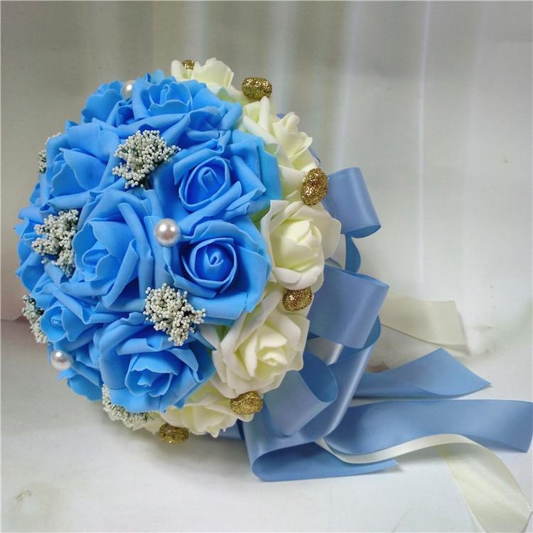Wedding Budget Flowers: 2017 Bridal Bridesmaid Wedding Bouquet Cheap New Romantic