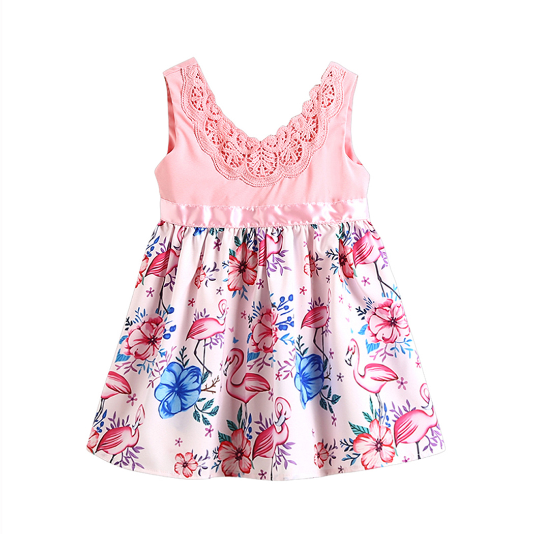 Lace Flamingo Party 2018 Kids Baby Girls Dress Sundresses Toddler Floral  Princess Sundress Children Clothes-in Dresses from Mother   Kids on  Aliexpress.com ... ea9c7ec437fe
