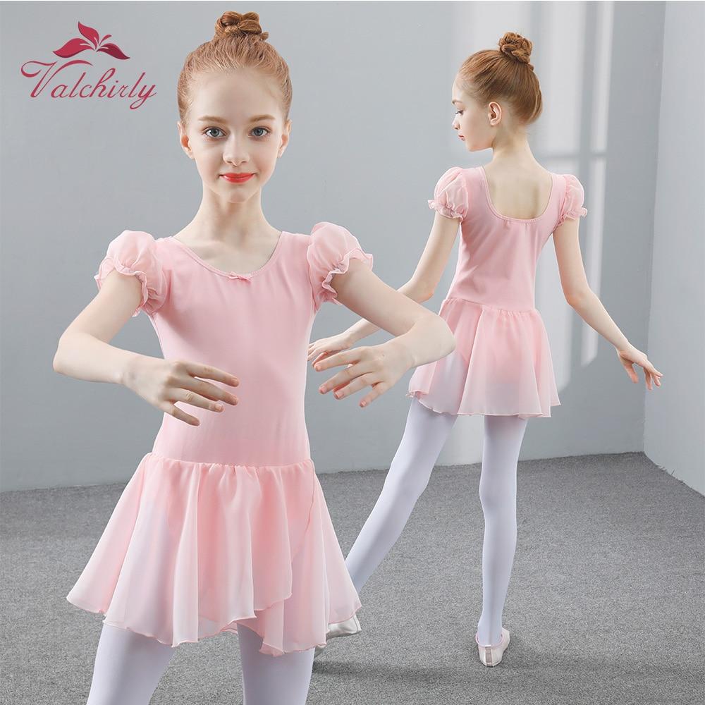 Girls Dance Leotards Ballet Dress Bodysuit Kids Ballerina Tutu Leotard Blue Black Colors Good Style