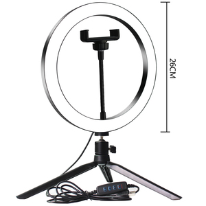 Image 4 - Selfie Lamp LED Studio Camera Ring Light Photo Phone Video Light Lamp With Tripods Selfie Stick Ring Table Fill Light For Canon