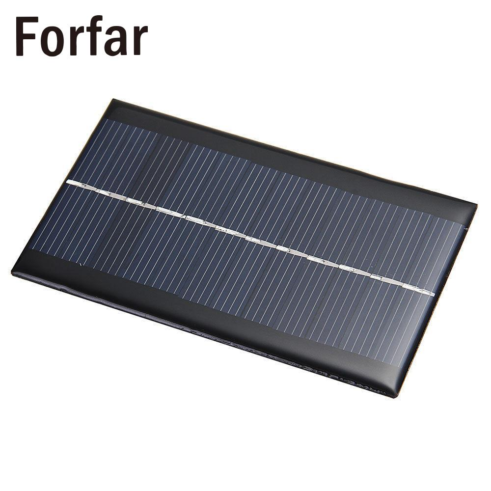 Outdoor Camping Mini 6V 1W Solar Power Panel Solar System Module DIY For Light Battery Cell Phone Toys Chargers Portable