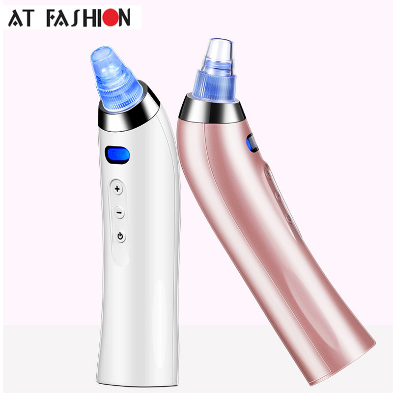 Skin Care Blackhead Vacuum Suction Remover Tool Electronic Blackhead Cleaner deep pore facial nose blackhead removal machine 10pcs remove mineral mud blackhead pore cleansing cleaner removal nose membranes blackhead
