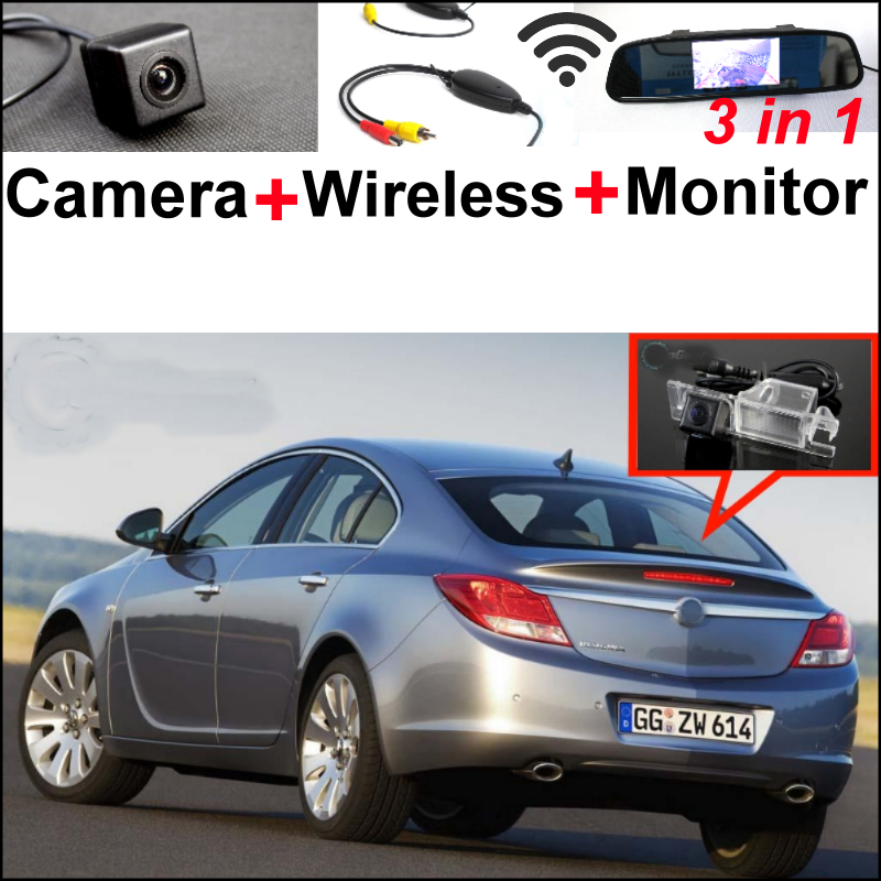 3 in1 Special WiFi Camera + Wireless Receiver + Mirror Monitor EASY DIY Backup Parking System For Opel Insignia 2009~2014 wireless pager system 433 92mhz wireless restaurant table buzzer with monitor and watch receiver 3 display 42 call button