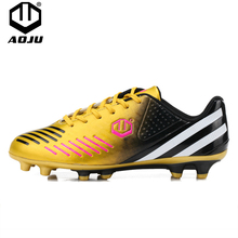 AOJU Professional Football Shoes TF / AG Sole Outdoor Cleats Football Boots Soccer Shoes Cleats Chuteira Futebol Sneakers 33-45 цена 2017